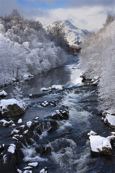 A Scottish river in winter Canvas print by Gail Johnson