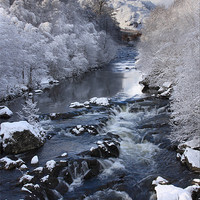 Buy canvas prints of A Scottish river in winter by Gail Johnson