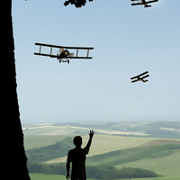 Buy canvas prints of Childhood Dreams - The Flypast by John Edwards