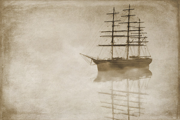 Morning mist in sepia Canvas print by John Edwards