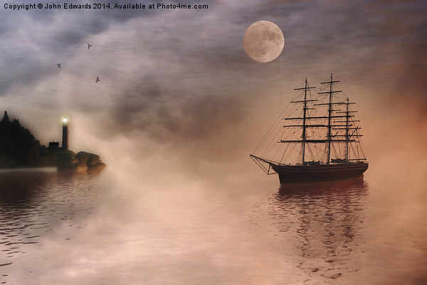 Evening Mists Canvas print by John Edwards