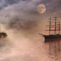 Buy canvas prints of Evening Mists by John Edwards