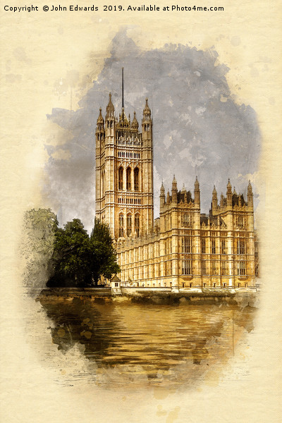 The Victoria Tower, London Canvas print by John Edwards