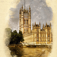 Buy canvas prints of The Victoria Tower, London by John Edwards