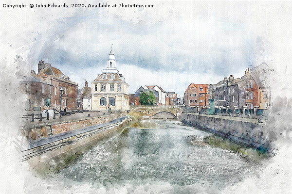 Purfleet Quay, King's Lynn Canvas print by John Edwards
