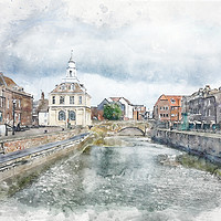 Buy canvas prints of Purfleet Quay, King's Lynn by John Edwards