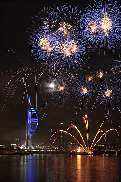 Spinnaker Tower fireworks Canvas print by sharpimage.net