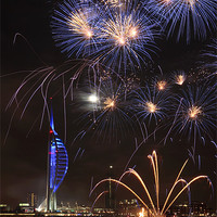 Buy canvas prints of Spinnaker Tower fireworks by sharpimage.net