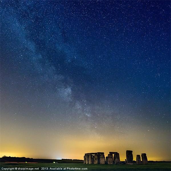 Milky Way over Stonehenge Canvas print by sharpimage.net