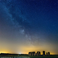 Buy canvas prints of Milky Way over Stonehenge by sharpimage.net