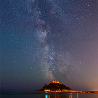 Buy canvas prints of Milky Way above St Michaels Mount by sharpimage.net