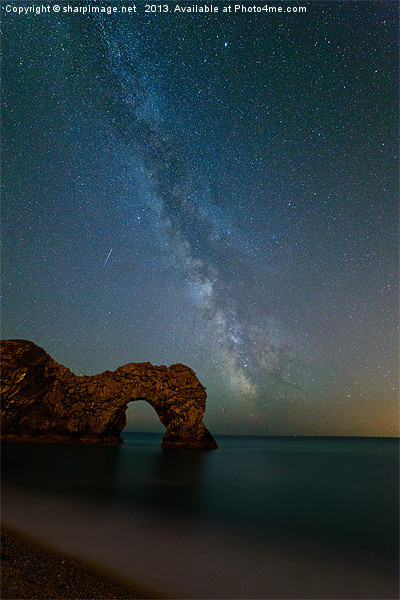 Milky Way over Durdle Door Canvas print by sharpimage.net
