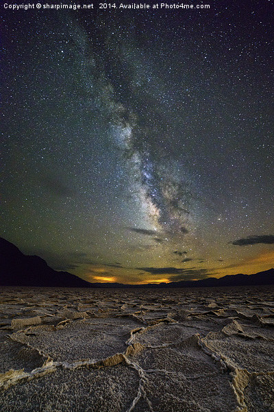 Milky Way over Death Valley Canvas print by sharpimage.net
