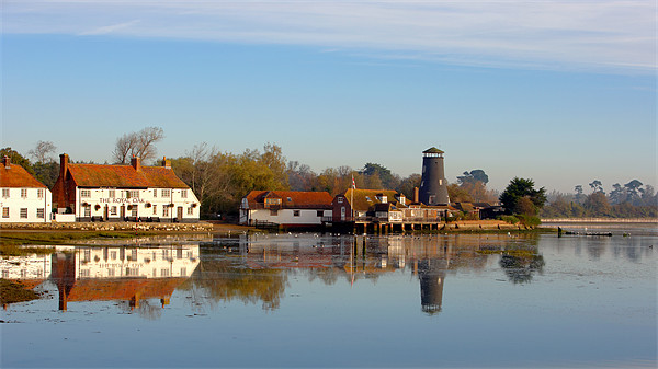 Langstone Mill and The Royal Oak Public House Canvas print by sharpimage.net
