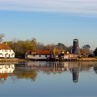 Buy canvas prints of Langstone Mill and The Royal Oak Public House by sharpimage.net