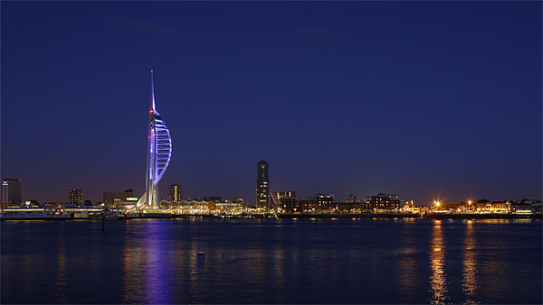 Spinnaker Tower Portsmouth Harbour at Dusk Canvas print by sharpimage.net