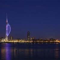 Buy canvas prints of Spinnaker Tower Portsmouth Harbour at Dusk by sharpimage.net