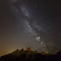 Buy canvas prints of  Corfe Castle Milky Way by sharpimage.net