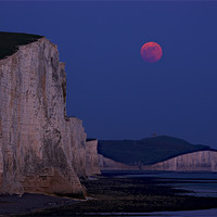 Buy canvas prints of Seven Sisters Moonrise by sharpimage.net