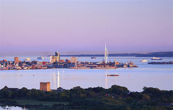 Portsmouth Harbour at Dusk Canvas print by sharpimage.net