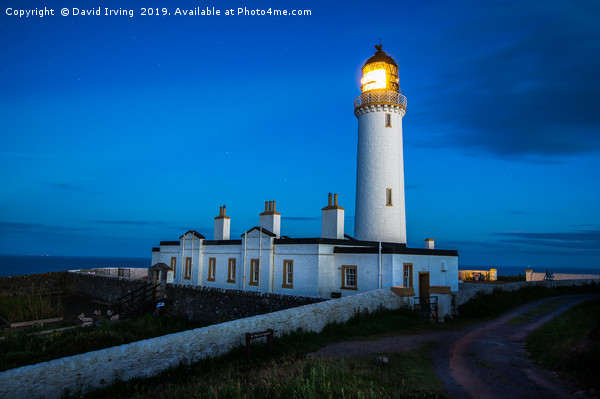 Mull of Galloway lighthouse Canvas print by David Irving