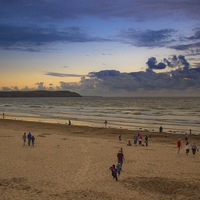 Buy canvas prints of  Evening on the Beach by Kish Woolmore