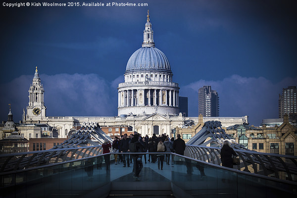 St Pauls Canvas print by Kish Woolmore
