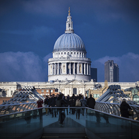 Buy canvas prints of  St Pauls by Kish Woolmore