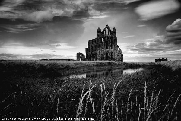 Gothic Abbey Print by David Smith