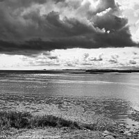 Buy canvas prints of Dramatic Clouds Above Holy Island by David Smith