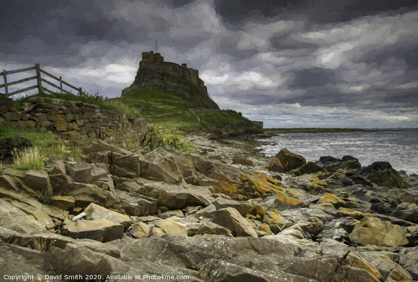 Stunning Holy Island Framed Mounted Print by David Smith