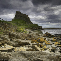 Buy canvas prints of Stunning Holy Island by David Smith