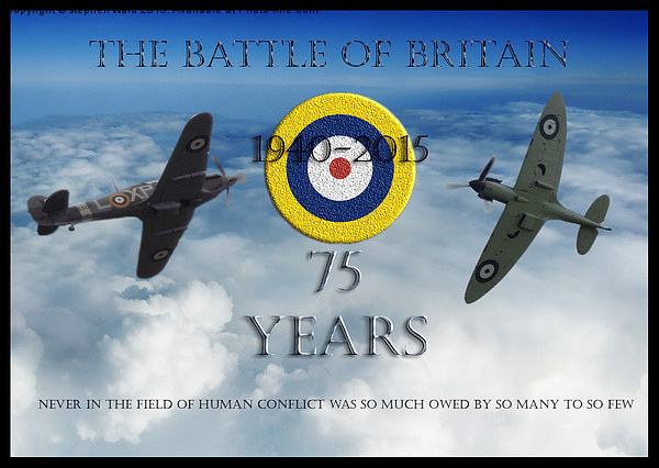 The Battle of Britain Canvas Print by stephen ward