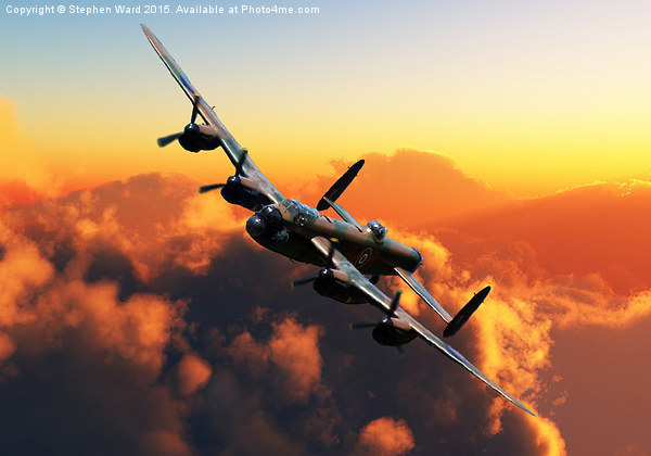 Banking Bomber Canvas print by Stephen Ward