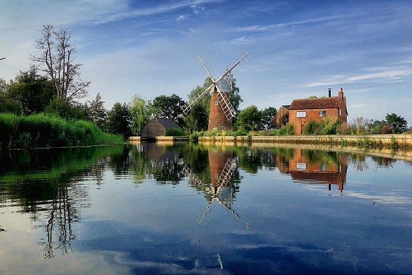 Hunsett Mill on the River Ant Framed Mounted Print by J G Photography