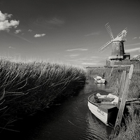 Buy canvas prints of  Cley Windmill by JG Photography