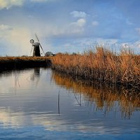 Buy canvas prints of  Rain on Mutton's Mill by JG Photography