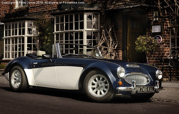 Austin Healey 3000 Canvas Print by Peter Jones