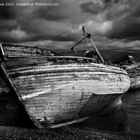 Buy canvas prints of Two wrecked fishing boats at Salen, Mull by Peter Jones