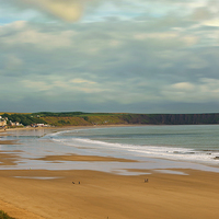 Buy canvas prints of  Filey beach, North East Yorkshire by Andrew Scott