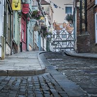 Buy canvas prints of  Lincoln, Steep Hill, early morning by Andrew Scott
