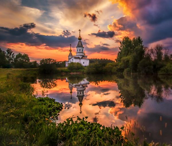 Summer sunset Canvas print by Svetlana Korneliuk