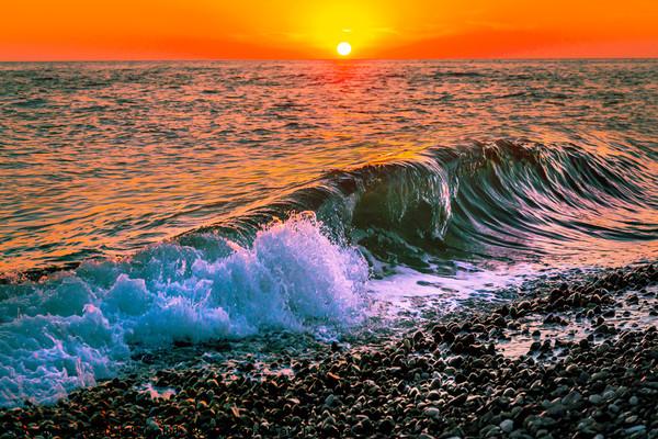 Sunset splash Canvas print by Svetlana Korneliuk