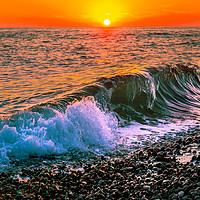 Buy canvas prints of Sunset splash by Svetlana Korneliuk