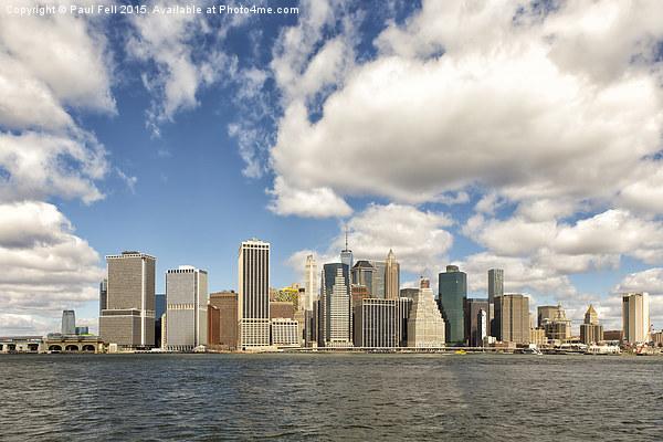 Manhattan Framed Mounted Print by Paul Fell