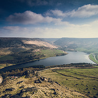 Buy canvas prints of Dovestones from Aldermans Hill by Gary Turner