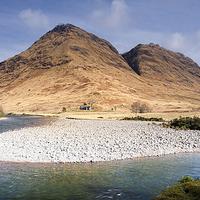 Buy canvas prints of  River Etive, Glen Etive by Martin Slowey