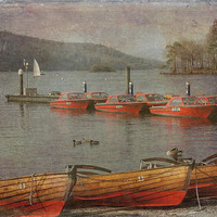 Buy canvas prints of Boats on Lake Windermere... by Andrew Blackburn