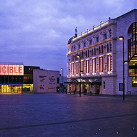 Buy canvas prints of Sheffield Theaters by Chris Watson