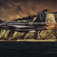 Buy canvas prints of  Lightning cliffs by Peter Scheelen